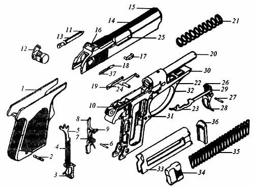 5,45-мм пистолет самозарядный